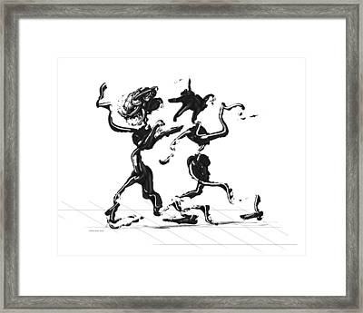 Dancing Couple 1 Framed Print