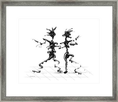Dancing Couple 2 Framed Print