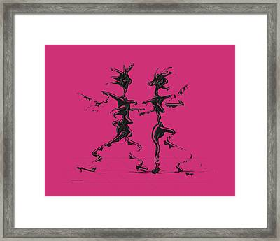 Dancing Couple 2 - Pink Yarrow Framed Print by Manuel Sueess