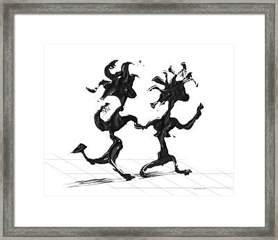 Dancing Couple 7 Framed Print