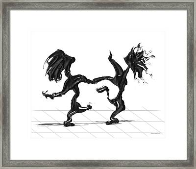 Dancing Couple 8 Framed Print