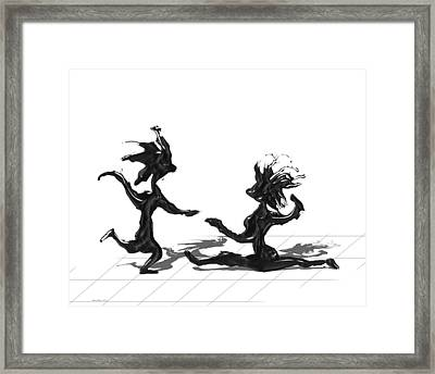 Dancing Couple 9 Framed Print