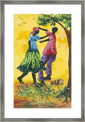 Dancing Couple Framed Print by Herold Alvares
