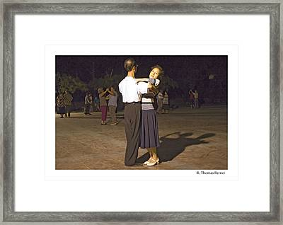 Framed Print featuring the photograph Dancing Couple by R Thomas Berner