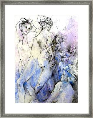Dancing Damsels Framed Print by Joan  Jones