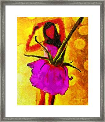 Dancing Days - Da Framed Print