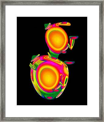 Dancing Egg Ant Framed Print by Jacqueline Migell