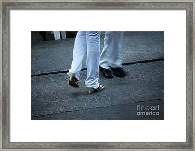Dancing Feet At The Dominican Republic Son Party Number One Framed Print
