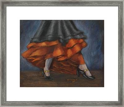 Dancing Feet Framed Print by Quwatha Valentine