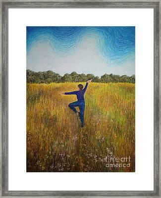 Dancing Field Framed Print