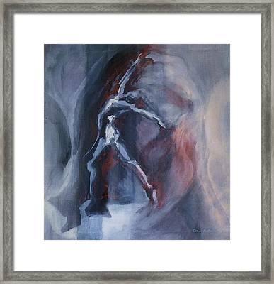 Dancing Figure Framed Print by Denise Fulmer