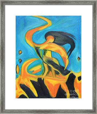 Dancing Fire - Sequel Framed Print by Amy Wilkinson