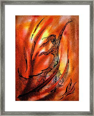Dancing Fire II Framed Print