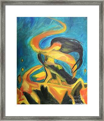 Dancing Fire - One Framed Print by Amy Wilkinson