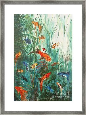 Dancing Fish Framed Print