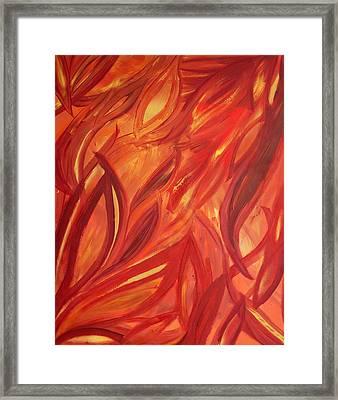 Dancing Flame Framed Print