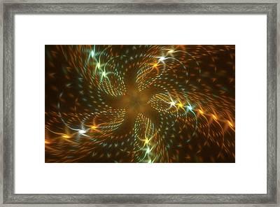 Dancing Flower Star In Motion Framed Print