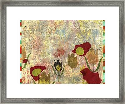 Dancing Flowers Framed Print by Gloria Von Sperling