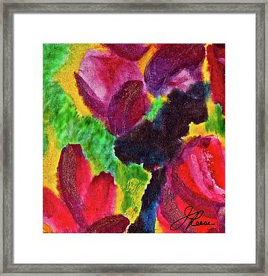 Dancing Flowers Framed Print by Joan Reese