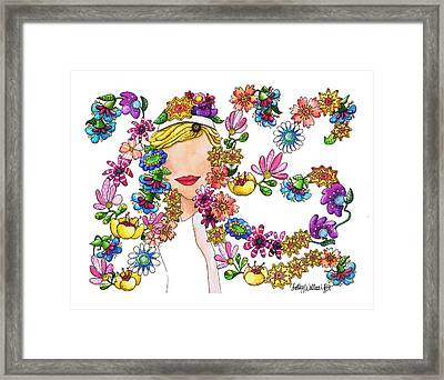 Dancing Flowers Framed Print by Shelley Wallace Ylst
