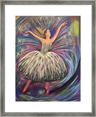 Dancing For The Limelight Framed Print by Ann Couture Stray