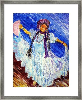 Dancing Free Framed Print by Sarah Hornsby
