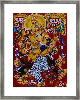 Dancing Ganapathi Framed Print