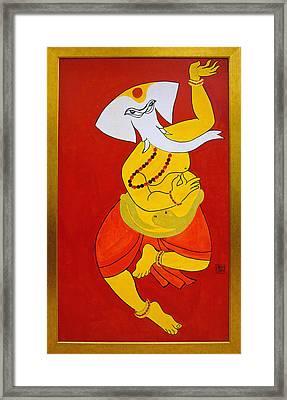 Dancing Ganesha Framed Print
