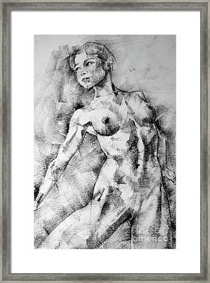 Dancing Girl Drawing Framed Print