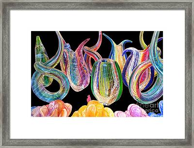 Dancing Glass Objects Framed Print