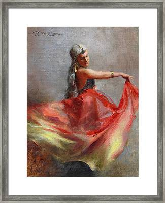 Dancing Gypsy Framed Print by Anna Rose Bain