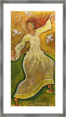 Dancing Her Prayers Framed Print by Shiloh Sophia McCloud