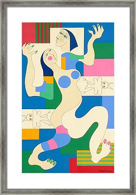 Dancing Framed Print by Hildegarde Handsaeme
