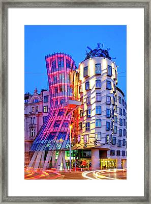 Framed Print featuring the photograph Dancing House by Fabrizio Troiani