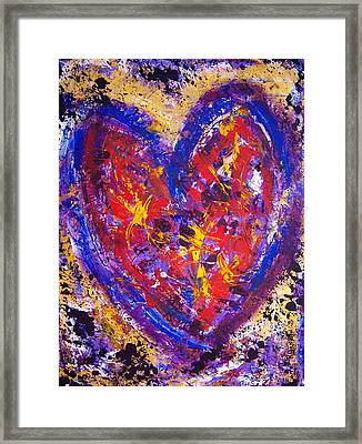 Dancing In Love Framed Print by Rhiannon Marhi