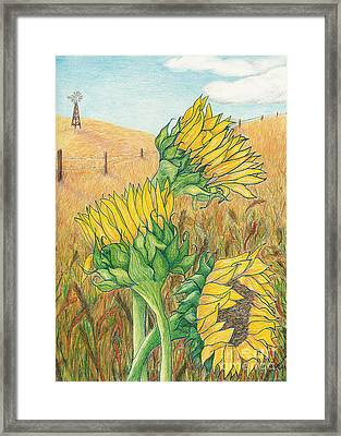 Dancing In The Breeze  Framed Print by Vicki  Housel