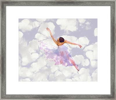 Dancing In The Clouds Framed Print by Steve K