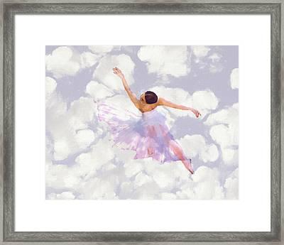 Dancing In The Clouds Framed Print by Steve K