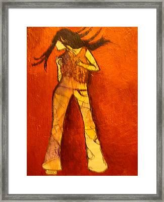 Dancing In The Club Framed Print by L Visser