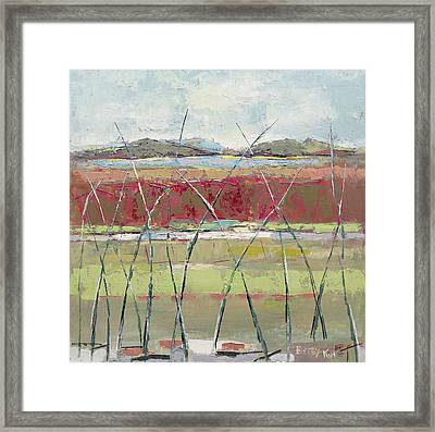 Dancing In The Field Framed Print by Becky Kim
