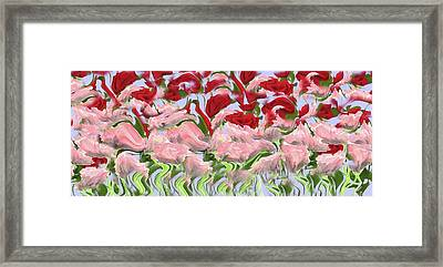 Framed Print featuring the painting Dancing In The Garden by David Dehner