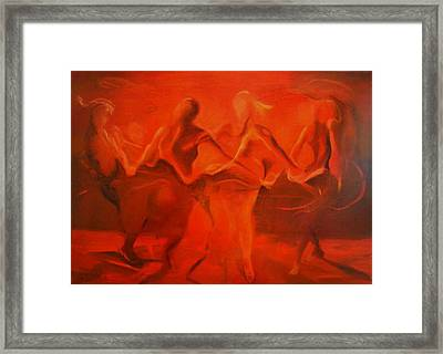 Dancing In The Gloaming Framed Print