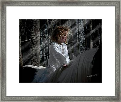 Dancing In The Moonbeams Framed Print by Terry Kirkland Cook