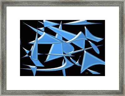 Dancing In The Ocean Framed Print