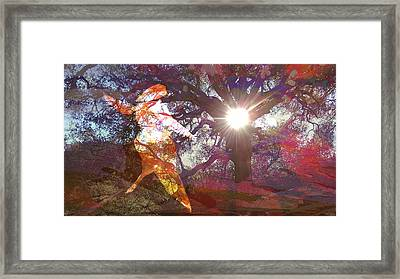 Dancing In The Park.. Framed Print