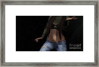 Dancing In The Rain 3 Framed Print