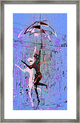 Dancing In The Rain Framed Print by Tony Marquez