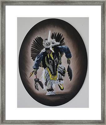 Framed Print featuring the painting Dancing In The Spirit by Michael  TMAD Finney