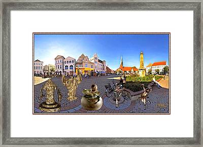 Dancing In The Square Framed Print
