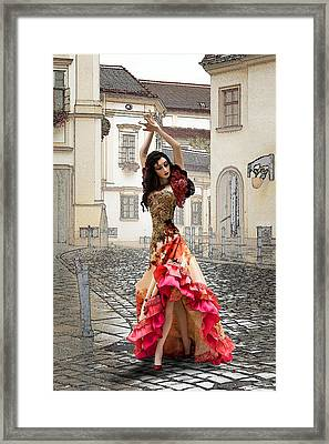 Dancing In The Street Framed Print by Brainwave Pictures